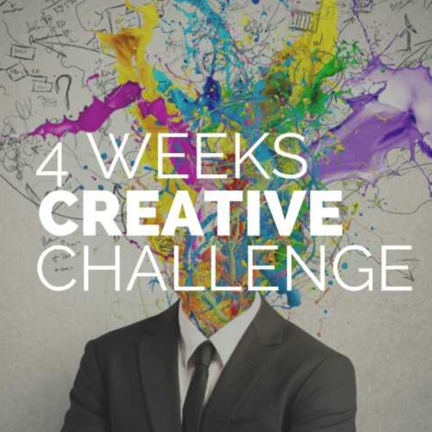 four weeks creative challenge to cultivate your artistic side