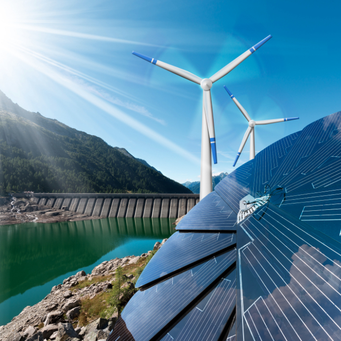 china dialogue china promotes quota for green clean energy photo of windmills and solar energy panels